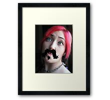 Ma'am, your 'stache bothers me...  Framed Print