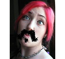 Ma'am, your 'stache bothers me...  Photographic Print