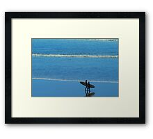 Going Surfing Framed Print