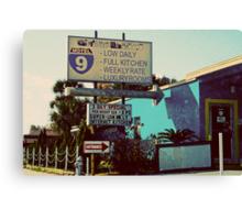 motel 9 Canvas Print