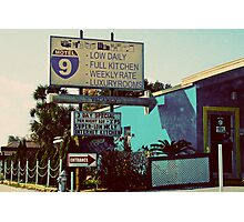 motel 9 Photographic Print