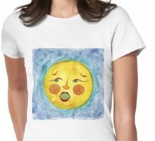 OLD FULL MOON Womens Fitted T-Shirt