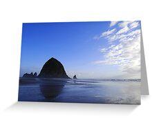Low Tide at Haystack Rock Greeting Card