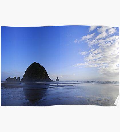 Low Tide at Haystack Rock Poster