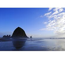 Low Tide at Haystack Rock Photographic Print