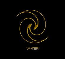 Astrology Symbol For Water by Vy Solomatenko
