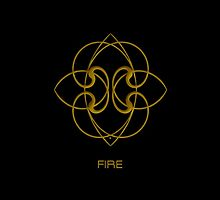 Astrology Symbol For Fire by Vy Solomatenko