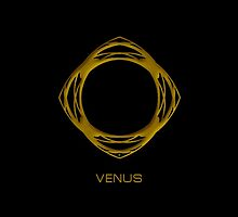 Astrology Symbol For Venus by Vy Solomatenko