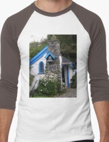 St Gobban's Church, Portbradden,Co Antrim Coast, Ireland  Men's Baseball ¾ T-Shirt