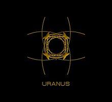 Astrology Symbol For Uranus by Vy Solomatenko