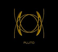 Astrology Symbol For Pluto by Vy Solomatenko