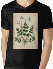 A curious herbal Elisabeth Blackwell John Norse Samuel Harding 1737 0384 Musk Crane's Bill Mens V-Neck T-Shirt