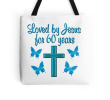 60TH BUTTERFLY AND CROSS BIRTHDAY Tote Bag