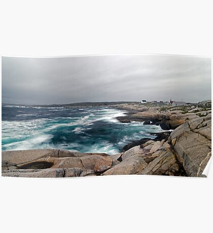 Peggy's Cove, Nova Scotia - Panorama Poster