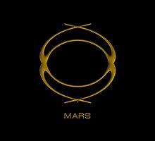 Astrology Symbol For Mars by Vy Solomatenko