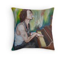 JD Piano Throw Pillow