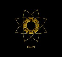 Astrology Symbol For Sun by Vy Solomatenko