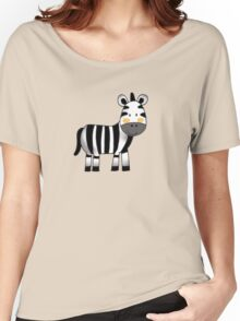 Adorable zebra animal cartoon Women's Relaxed Fit T-Shirt