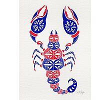 Patriotic Scorpion Photographic Print
