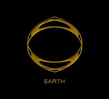 Astrology Symbol For Earth by Vy Solomatenko