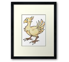 Final Fantasy Chocobo in Pastel & Colour Pencil Framed Print