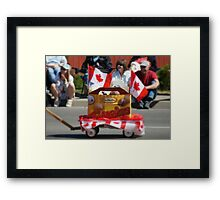 """Canada Day and  """"A Canadian Institution""""... Framed Print"""