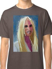 Portrait of Donatella Versace Classic T-Shirt