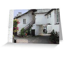 A Hawkeshead Lane, Lake District, Cumbria, UK. Greeting Card