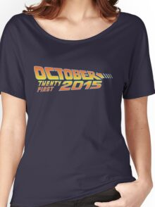 Back to the Future October 21, 2015  30 year anniversary Women's Relaxed Fit T-Shirt