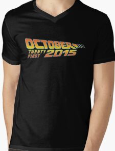 Back to the Future October 21, 2015  30 year anniversary Mens V-Neck T-Shirt