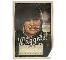 Team Fortress 2 - Eat Dirt, Maggots! VINTAGE WAR Poster