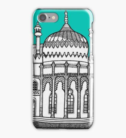 Brighton Pavilion in turquoise iPhone Case/Skin