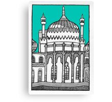 Brighton Pavilion in turquoise Canvas Print