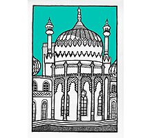 Brighton Pavilion in turquoise Photographic Print