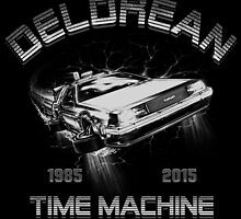 Delorean in Flight  by humaniteeshirts
