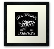Delorean in Flight  Framed Print