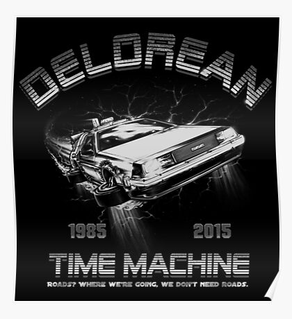 Delorean in Flight  Poster