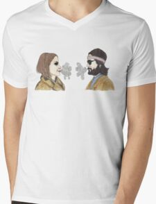 Margot and Richie Tenenbaum Mens V-Neck T-Shirt
