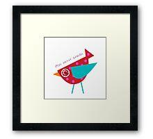 Mon Petit Oiseau 2 Framed Print