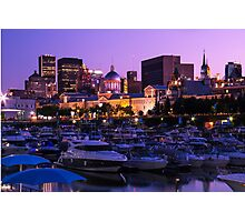 Montreal old Port marina Photographic Print