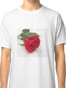 A rose on the snow Classic T-Shirt