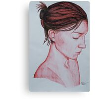Profile in Red Canvas Print