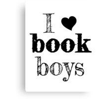 I <3 Book Boys Canvas Print