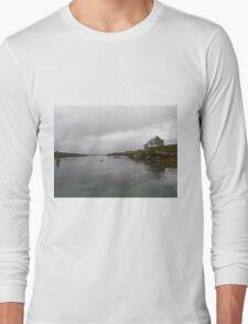 Blue Boat - Rutland Island - Donegal -  Ireland Long Sleeve T-Shirt