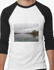 Blue Boat - Rutland Island - Donegal -  Ireland Men's Baseball ¾ T-Shirt