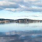 Tasman bridge from Cornelian Bay (panorama) by Odille Esmonde-Morgan