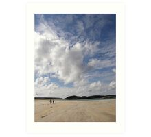 Walking Keadue Beach Donegal Ireland Art Print