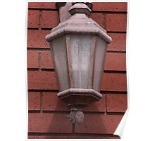 Dusty Lamp on Brick Wall  Poster