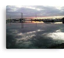 Bolte Bridge by a winter sunset, Docklands, Melbourne Canvas Print