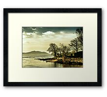 Where the river meets the sea Framed Print